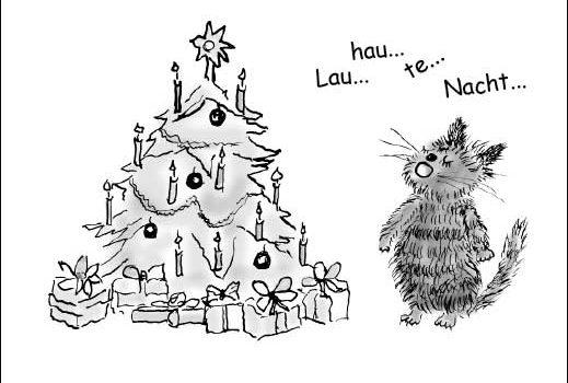 Weihnachten aus Sicht von Kater Fritz